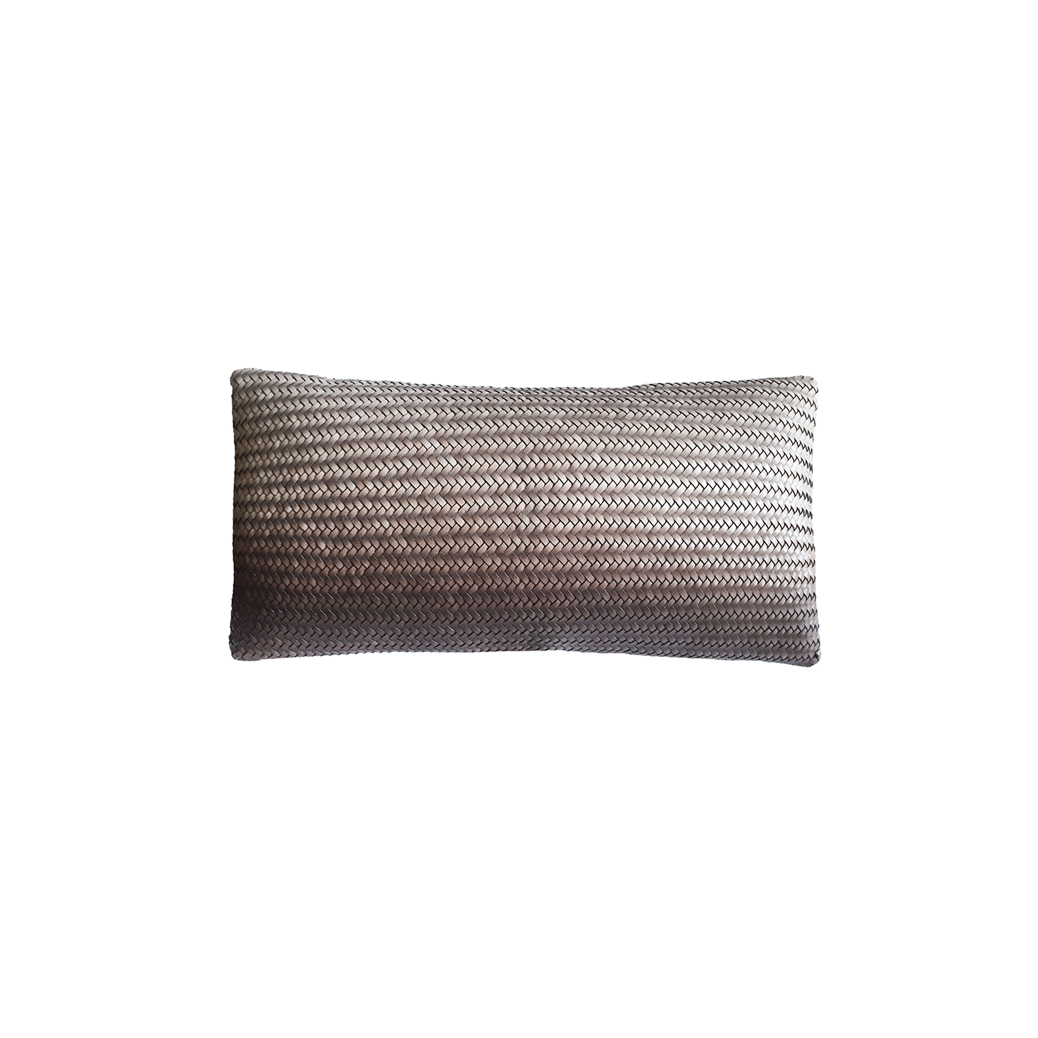 Tresse Degrade Hand Painted Leather Cushion Small - Having the leather as its main component, sometimes combined it with other materials, our pillows and throws in Tressé are used to embellish a variety of settings. They bring luxurious finishes and personality in the space and the furniture they accompany.   Tressé is the art of intertwining the leather. Our tressés are meticulously hand-woven by artisans in small ateliers. Each item crafted is therefore unique. It is an artisanal process that undertakes several stages of manufacturing, from the particular choice of the hide till the final product. And with each collection, the designers explore new patterns and techniques.  Please enquire for more information and see colour chart for reference. | Matter of Stuff