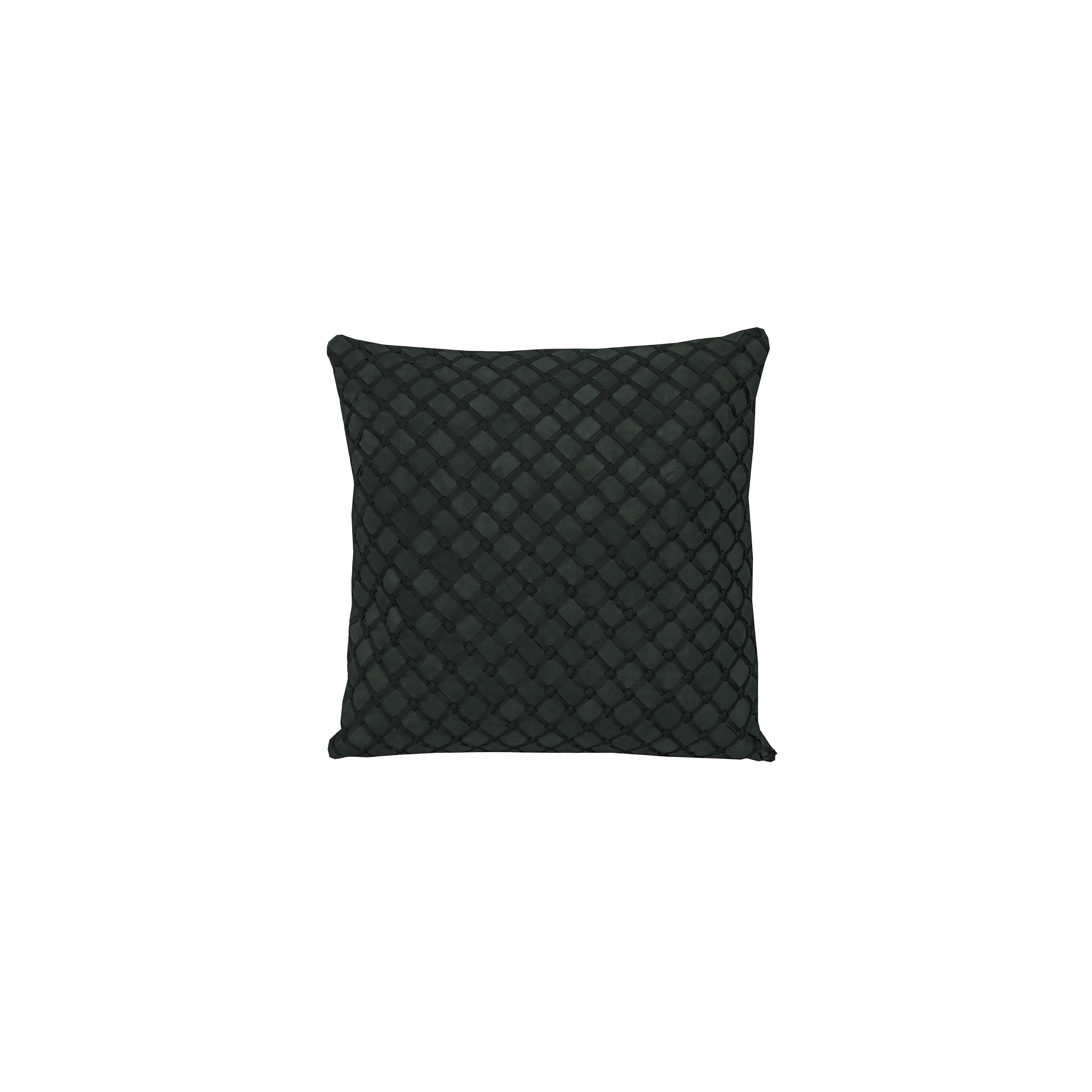 Geometrico Woven Leather Cushion Medium - <p>The Medium Geometrico Leather Cushion is designed to complement an ambient setting, with a natural and sophisticated feeling. Our woven handmade leather cushions are specially manufactured in Brazil using an exclusive treated leather that brings a soft touch to every single piece. Cushion pads can be customised in a range of ethically sourced feathers, eco-friendly wool and allergy friendly fibres. Our fillings are sourced for their superior quality and properties to make only the finest quality cushion pads. </p>