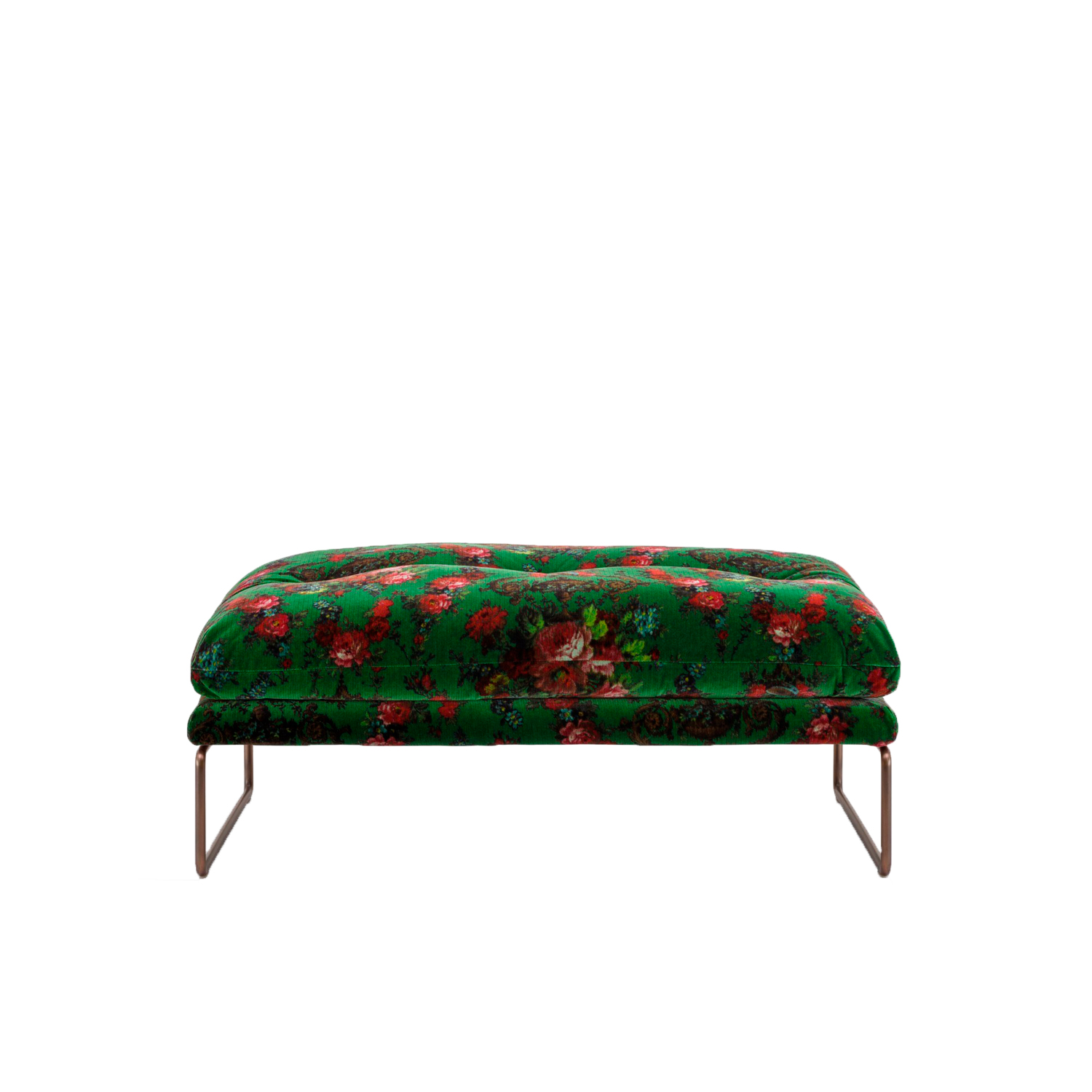 New York Suite Footstool - New York Suite is a Sled base upholstered fabric footstool, part of the homonymous collection.‎