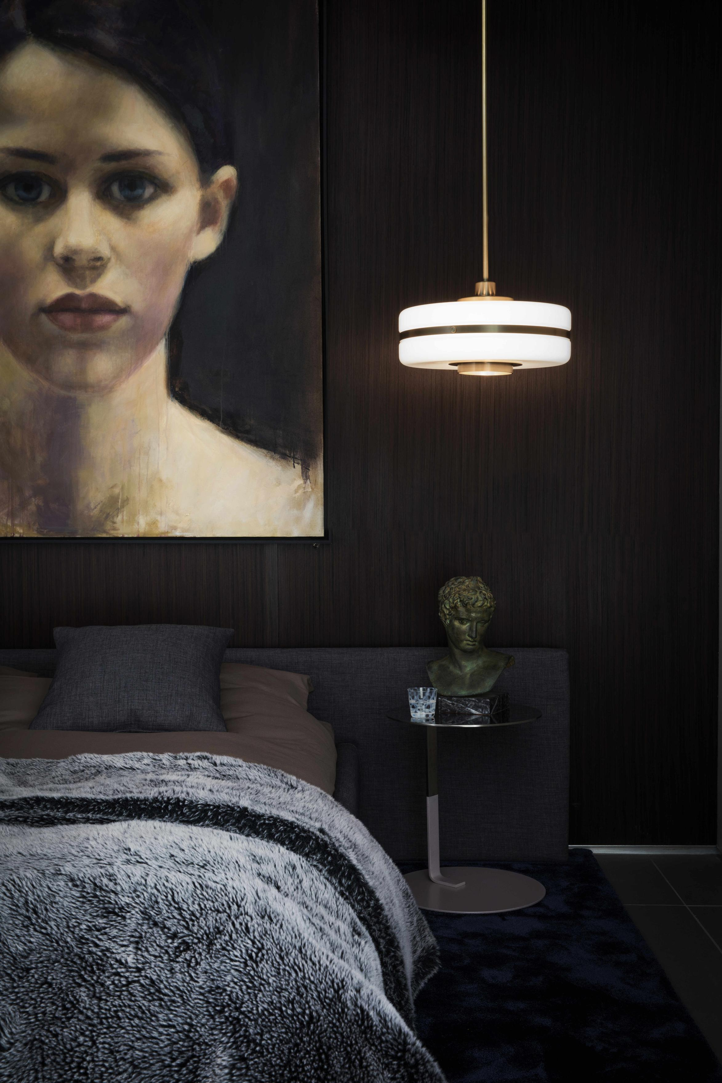 Masina Pendant Lamp - <p><span>Classically chic, the Masina Pendant Lamp features gleaming machined brass detailing and a large opal glass shade. Perfectly positioned in a central living area or over a bedside table, it will inject a sophisticated feel to any space. </p> <p></span></p>  | Matter of Stuff