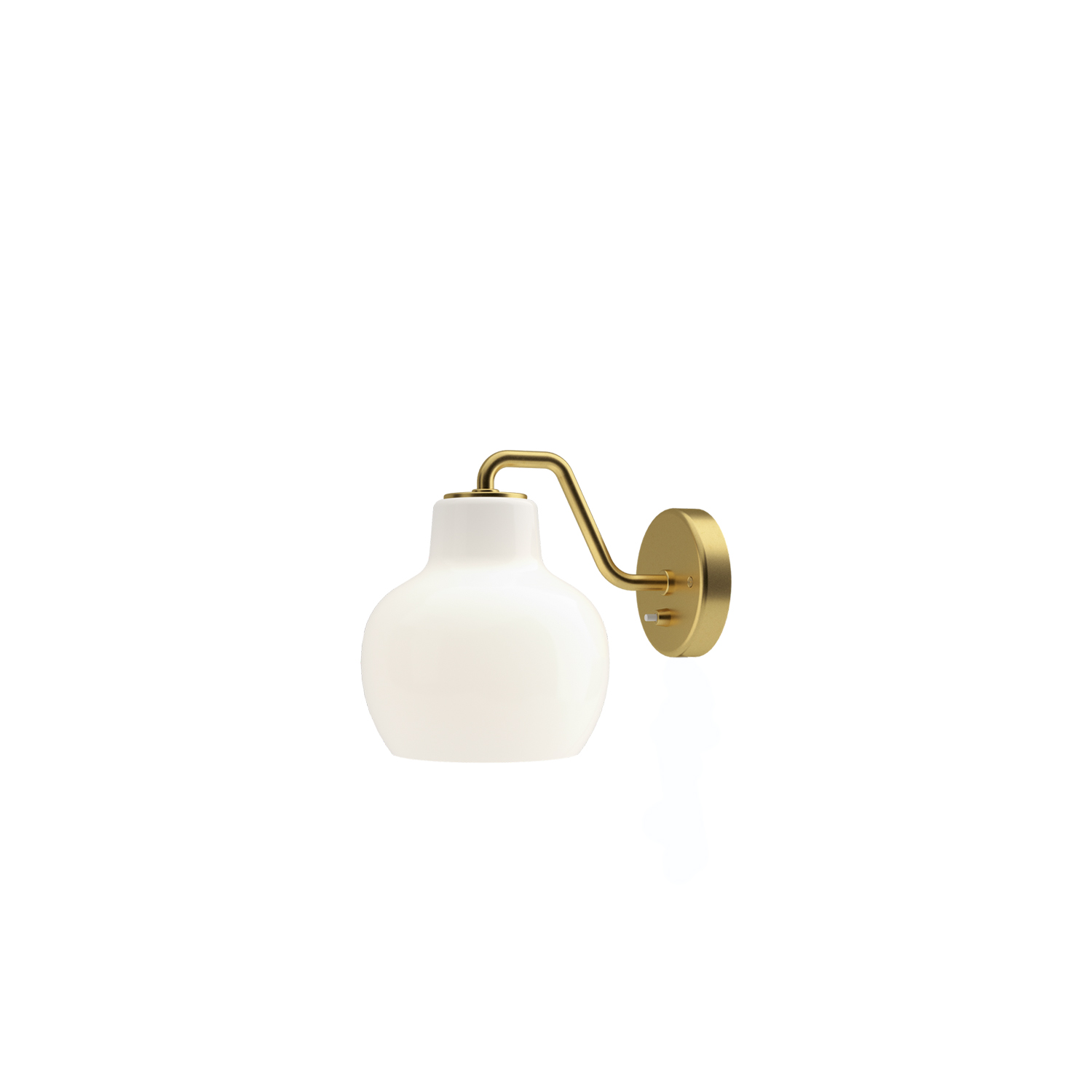 VL Ring Crown Wall Light - The wall lampt emits light directed primarily downwards. The opal glass provides a comfortable and uniform illumination of the area around the fixture.  | Matter of Stuff