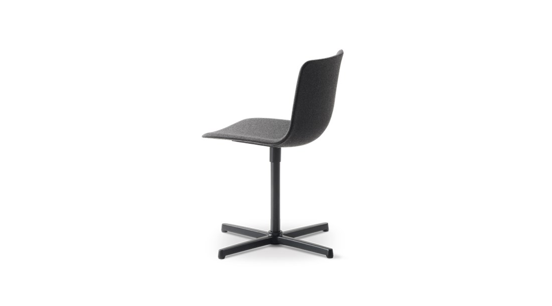 Pato Swivel X Base Chair Fully Upholstered