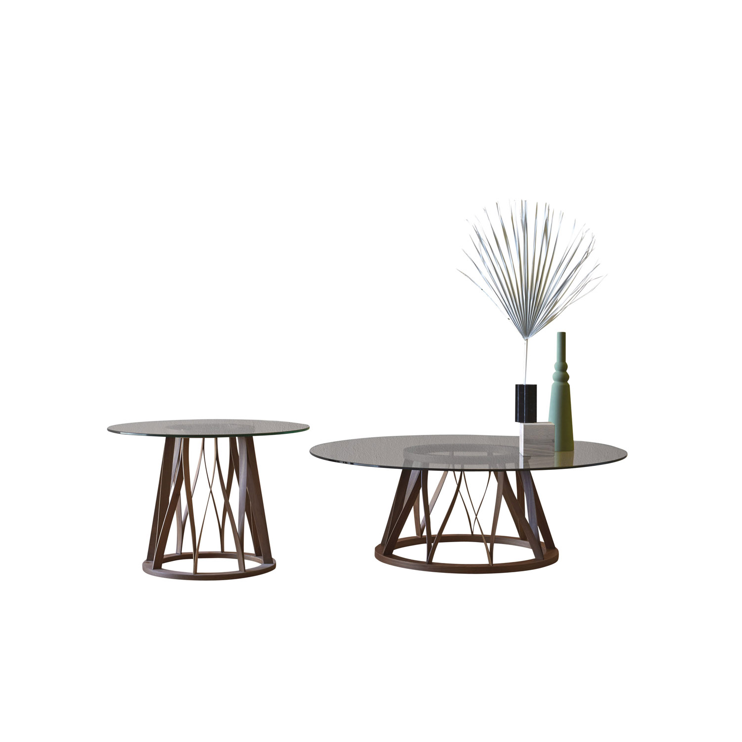 Acco Coffee Table - Acco is an elegant dining table with a strong character that resists labelling. It displays a mature, sophisticated language, which is developed through the design of the base frame with its distinct regular pattern of wooden lines.  | Matter of Stuff