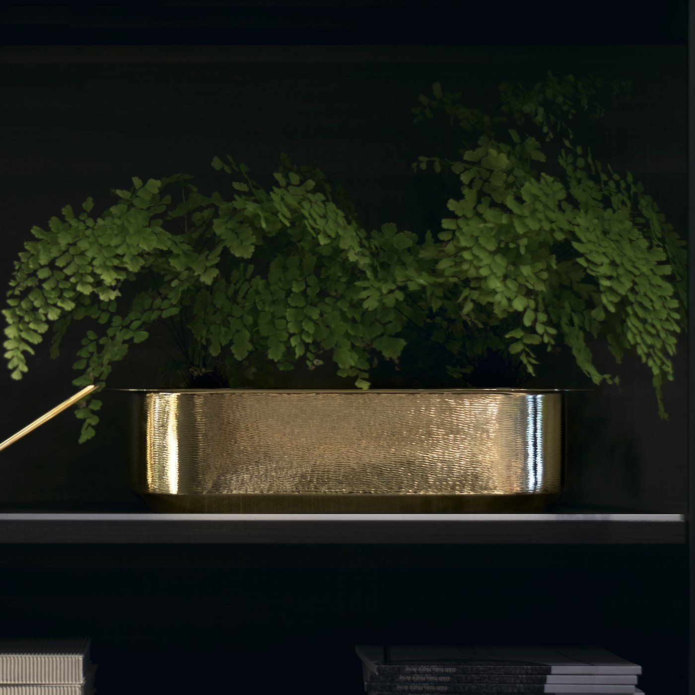 Davanzale Windowsill Cachepot - Metal Windowsill Cachepot entirely made by hand. The polished brass makes it an elegant, one-of-a-kind piece. you can use this watering can indoor and outdoor | Matter of Stuff