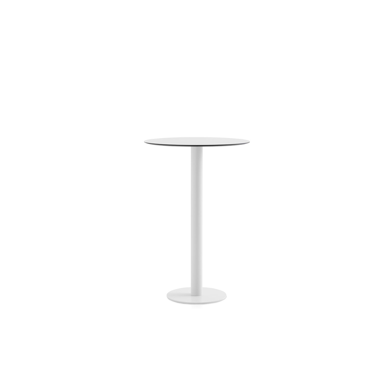 Mona High Table - <p>This is our high table from the Mona series, a design with a round tabletop and a single-leg structure specially designed for a corner or a bar-style environment. It measures 105 cm in height and it is available only in 70 cm diameter. Accompanied by high stools, this table allows you to create a relaxed outdoor space where you can have a drink or a snack, as well as a casual office area inside the house.</p>