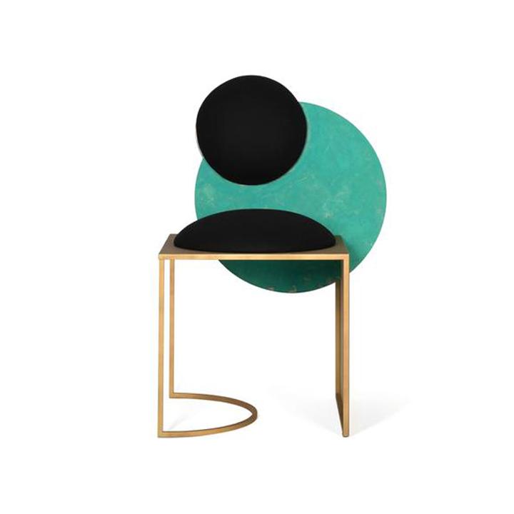 Celeste Chair - Copper & Wool