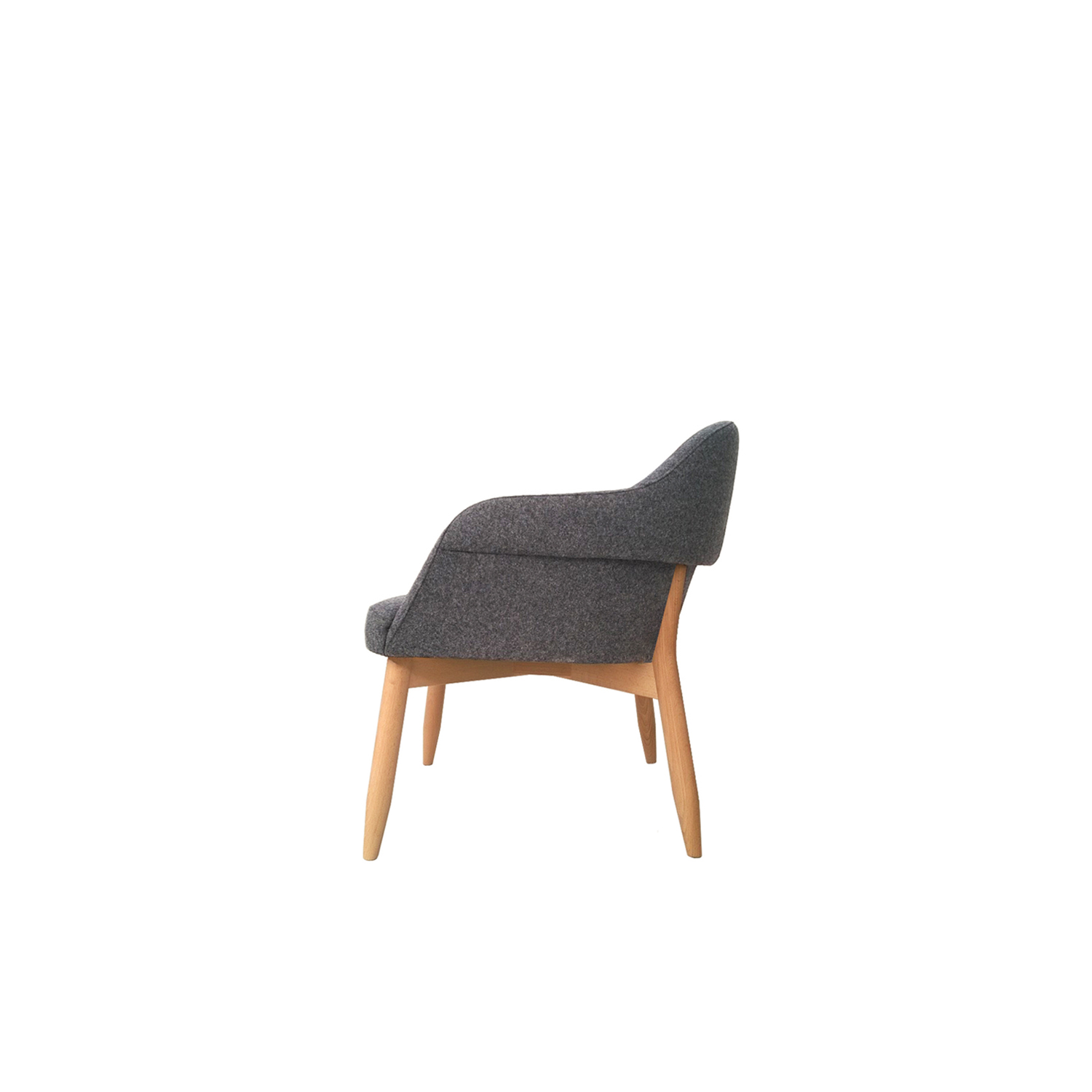 Spy Lounge Armchair - <p>Lounge chair and Spy High in solid beech or lacquered steel, Spy Wingback in solid beech, all three models with upholstered plywood shells.</p> <p>Chair comes with standard felt floor pads.</p>  | Matter of Stuff