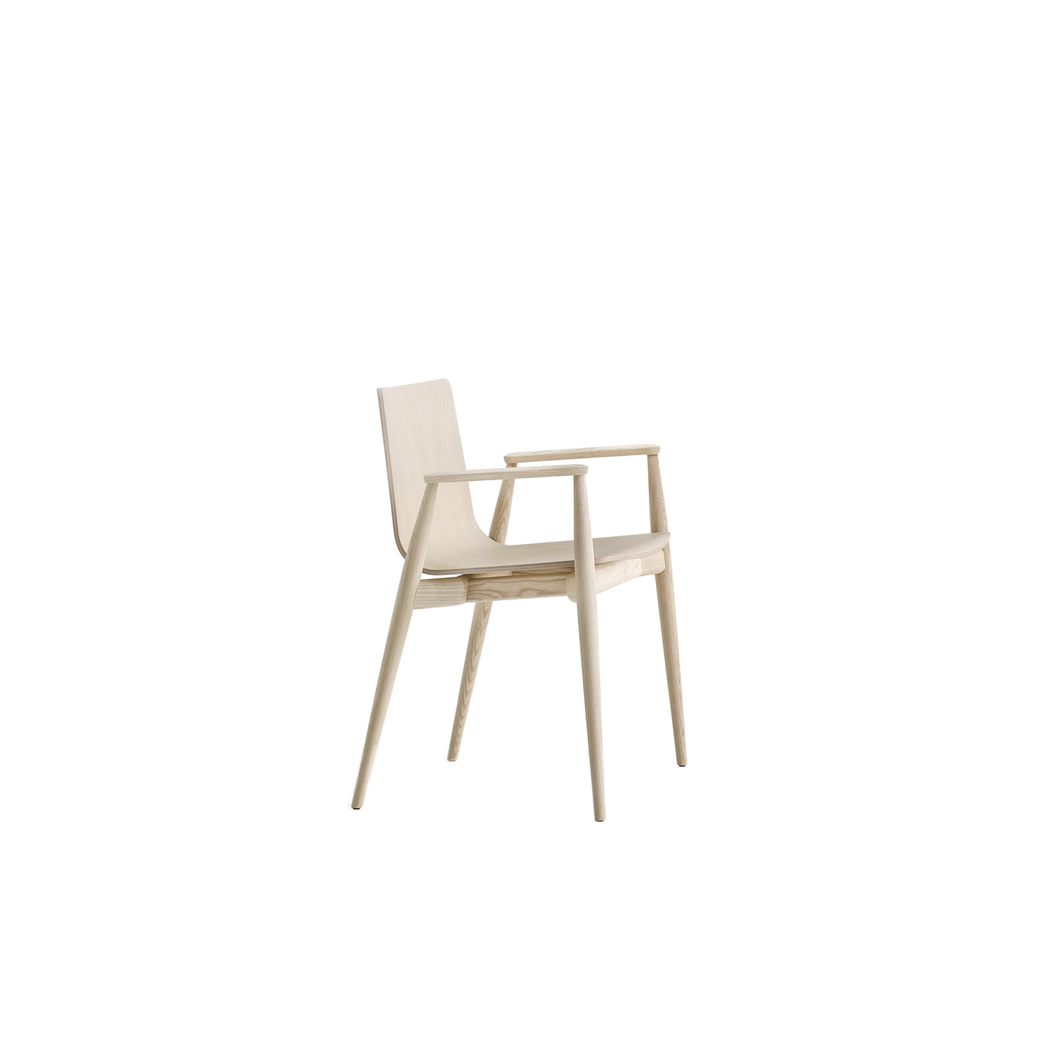 Malmö Armchair - The Malmö armchair was born from an imaginary journey along the sides of a Scandinavian lake. It recalls the experience of a come back home with the cosiness of wood warming up the environment.