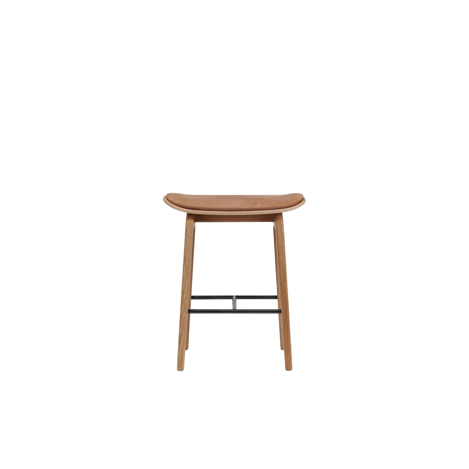 NY11 Stool Upholstered - The NY11 Bar Stool has a frame hand-crafted from solid white oak and a seat of laminated oak veneer. The seat can be upholstered with a various selection of both leather & fabrics. The NY11 series is inspired by traditional Danish school chairs designed throughout the twentieth century. | Matter of Stuff