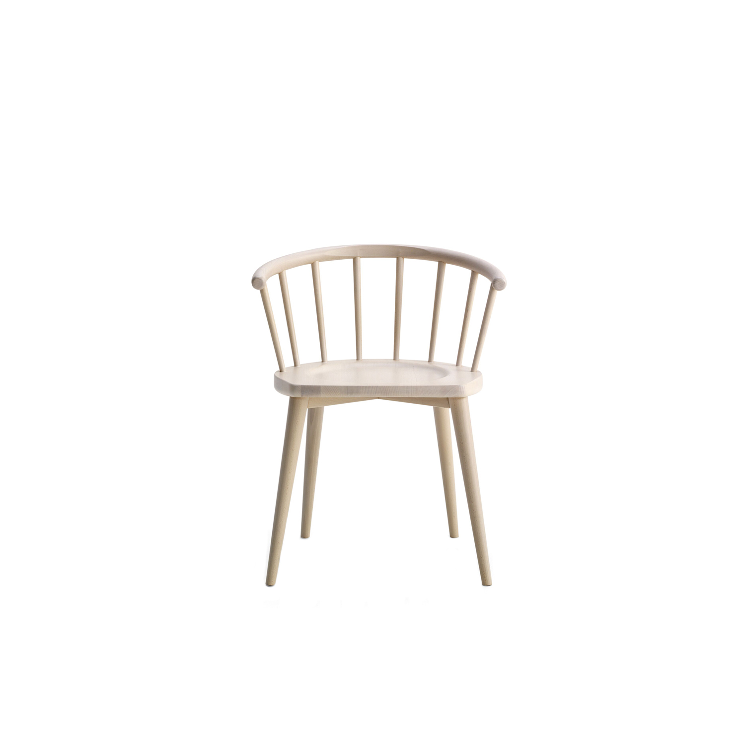 W. Chair - Chairs and armchairs in stained or lacquered beechwood, also in the rocking chair version. The reinterpretation of a classic. The re-design of a type of chair amongst the most well-known in design history: the Windsor Chair. The natural wood or lacquered is shaped with attention to the thicknesses, the angles, the relationship between the components, in order to achieve a balanced and streamlined design. Chairs, lounge chair, stool and rocking chairs are also available with cushions. Please enquire for further information.  | Matter of Stuff