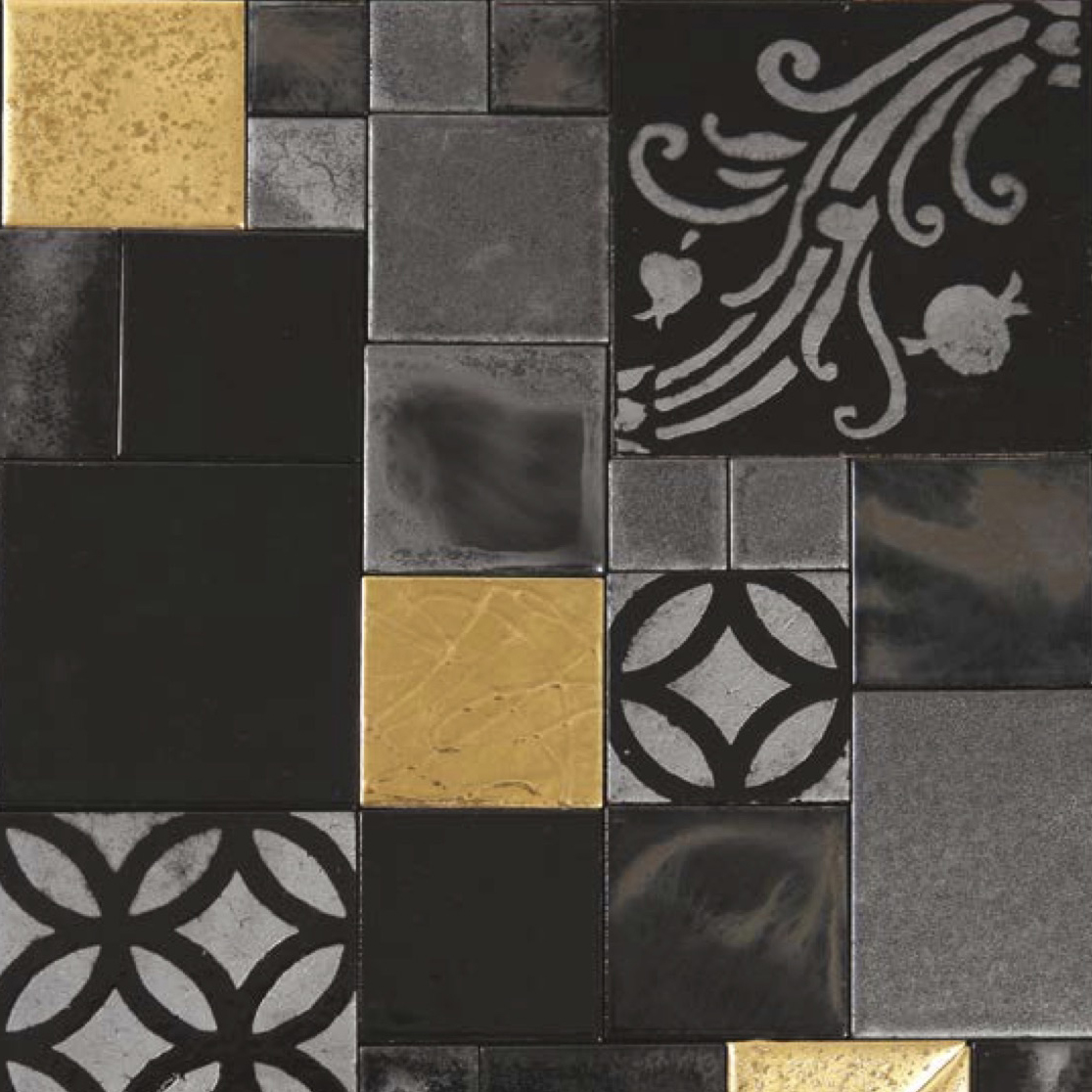 Square Tiles Black Treasure -  | Matter of Stuff
