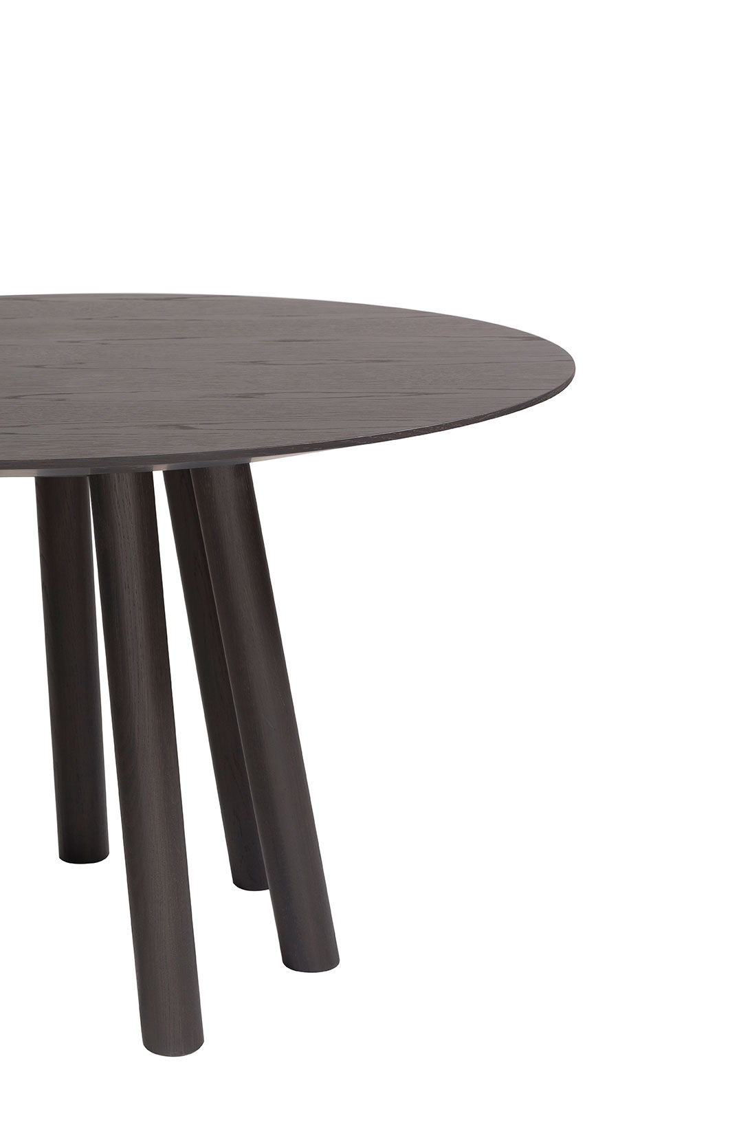 Mos-I-Ko 001 Ra Round Dining Table - <p>Round table in various sizes with shaped top with a thin edge,<br /> base with 7 legs in lacquered or solid wood.</p>  Maxfine top is available in Ø120 x H75 Cm and Ø130 x H75 Cm | Matter of Stuff