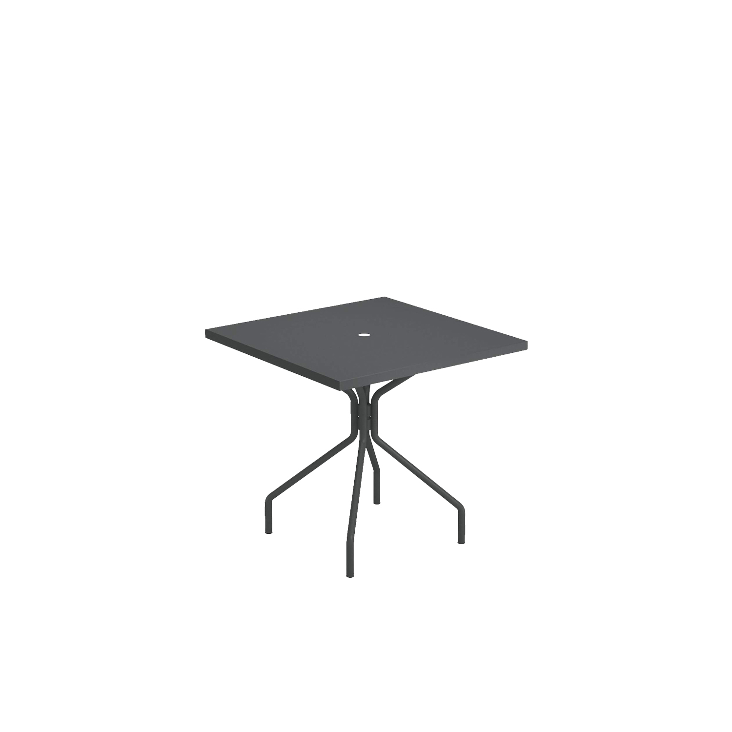 Solid Square Dining Table - A family of essential-looking tables designed to furnish any kind of outdoor space with simplicity: Solid is characterised by the functional steel sheet metal plate, for the most varied use needs.