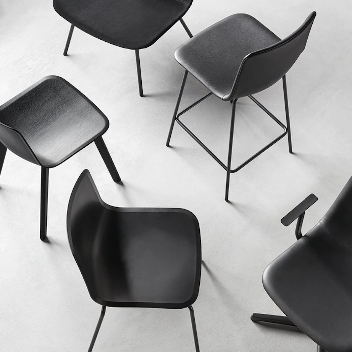 Pato 4 Leg Stool - Pato is a carefully crafted multipurpose chair in eco-friendly polypropylene that can be used outdoors. The chair is available with a range of optional features including coupling. The chair can be tuned from basic to exclusive with optional upholstery.  Pato is a prime example of our focus on sustainability and protecting the environment, reflected in a chair that's 100% renewable and recyclable. All components can be incorporated into future furniture production, thus contributing to a circular economy by minimising the use of materials, resources, waste and pollution.   Merging traditional production methods with cutting-edge technology, Pato is a human-centric, highly versatile series of multi-purpose functional furniture that draws on our in-depth experience with materials, immaculate detailing and heritage of fine craftsmanship. Allowing us to apply our high standards of texture, finish and carpentry techniques to an array of materials in addition to wood for products aimed at a mass market.   With its clean lines and curves, Pato echoes the ethos of Danish-Icelandic design duo Welling/Ludvik. Demonstrating their belief that good design has the ability to be interesting, even when reduced to its most simple form. Where anything extraneous is eliminated and every detail has a purpose.   Together we spent nearly three years developing the shell structure to have a soft surface that's also wear and tear resistant. Enhancing the chair's ability to optimally conform to the user's body is a subtle beveled edge. A technique from classic cabinetmaking, which gives the chair a sense of handcrafted finesse. Each Pato is detailed and finished by hand by our highly skilled crafts people, who refine the beveled edge and the silky, resilient surface. Setting a new standard for the execution and finish of polypropylene.   Since the success of its initial launch, we've expanded Pato into an extensive collection of variants, featuring armchairs, barstools, o