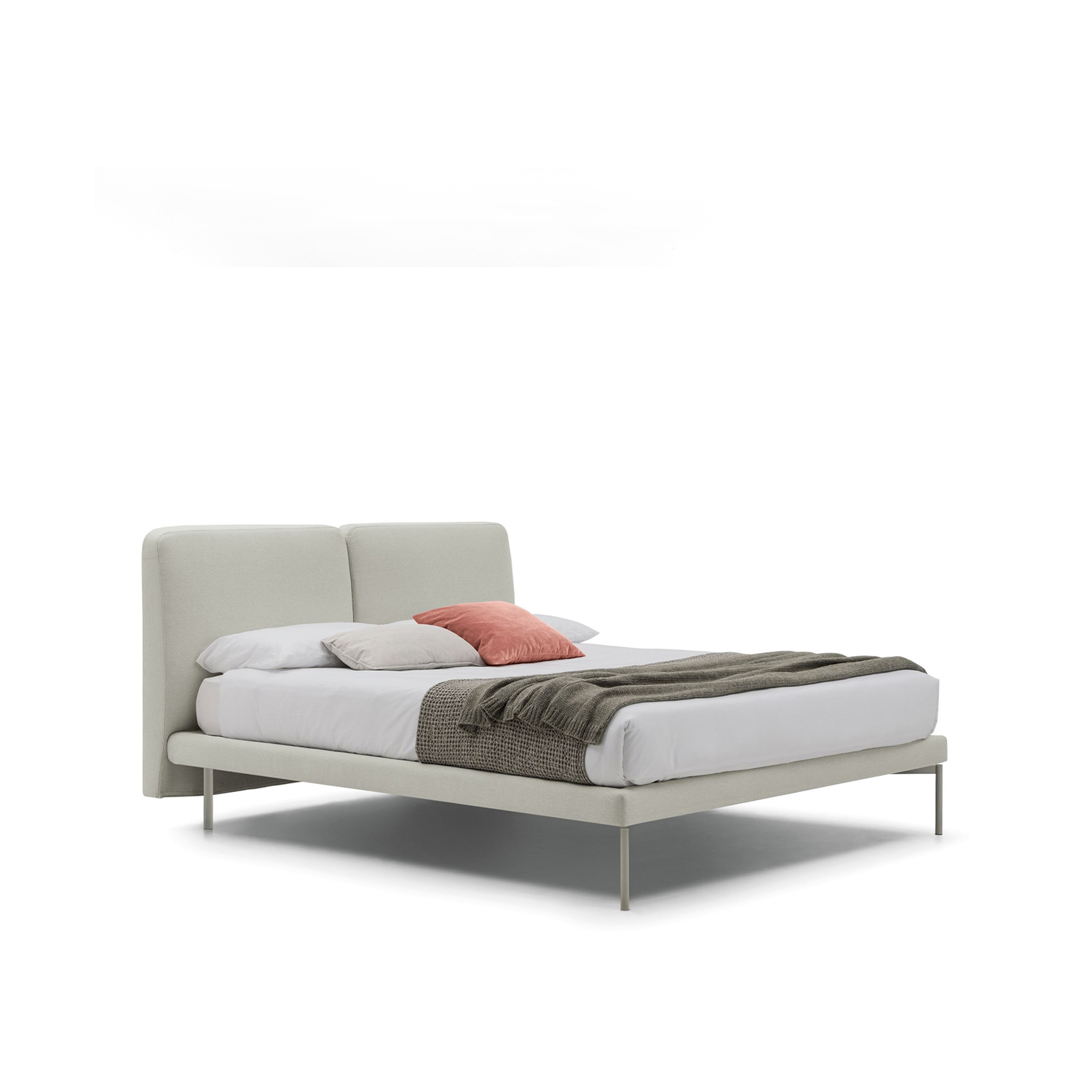 Feel Bed  - Elegance is the beauty that never fades: this quote from Audrey Hepburn is suitable for Feel, a bed inspired by a harmony ideal going beyond time and trends. It is thin in its shapes, soft in its feelings, and dressed with refined fabrics, Feel bed is distinguishing for its confortable double, slightly arched headboard.   | Matter of Stuff