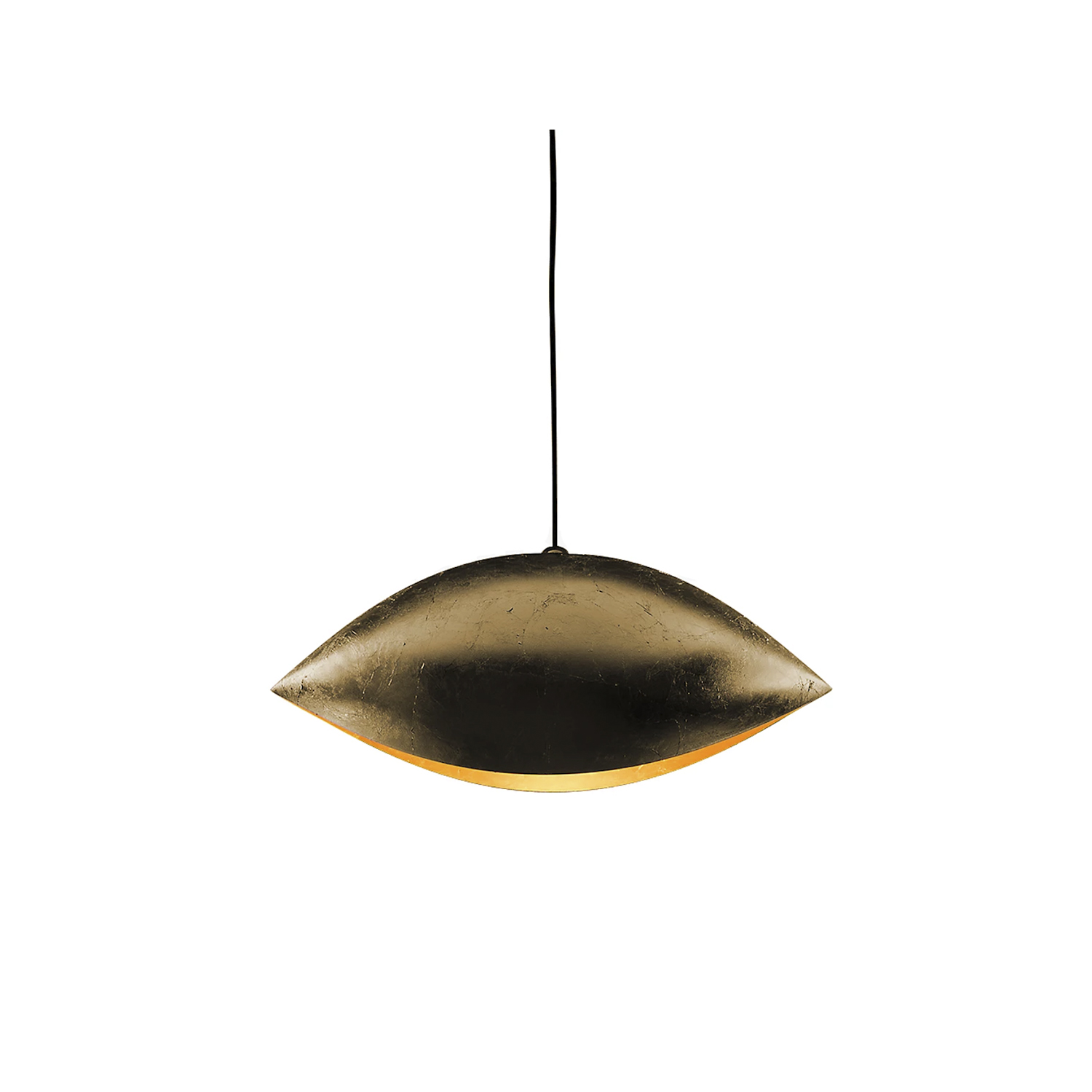 Malagola Pendant Lamp - Luci d'Oro was developed after reflecting on the colour of light: the golden light of the sun and fire; warm light, in which the concept of refraction began to take shape in Enzo Catellani's mind and which he used later in other creations. | Matter of Stuff