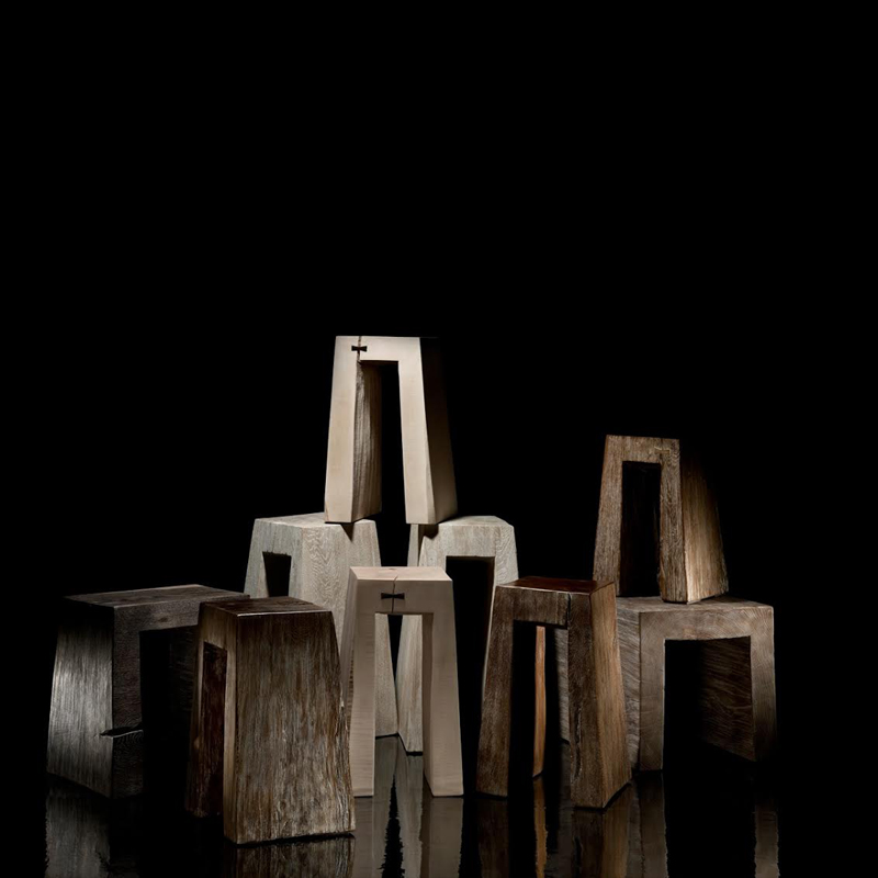 Stools - The artistic work of the trained carpenter and film-director Fritz Baumann is expressed in award-winning films and unique works in wood. Every stool is different and unique. Please contact us on info@matterofstuff.com to inquire on the range available at the moment of ordering.  | Matter of Stuff