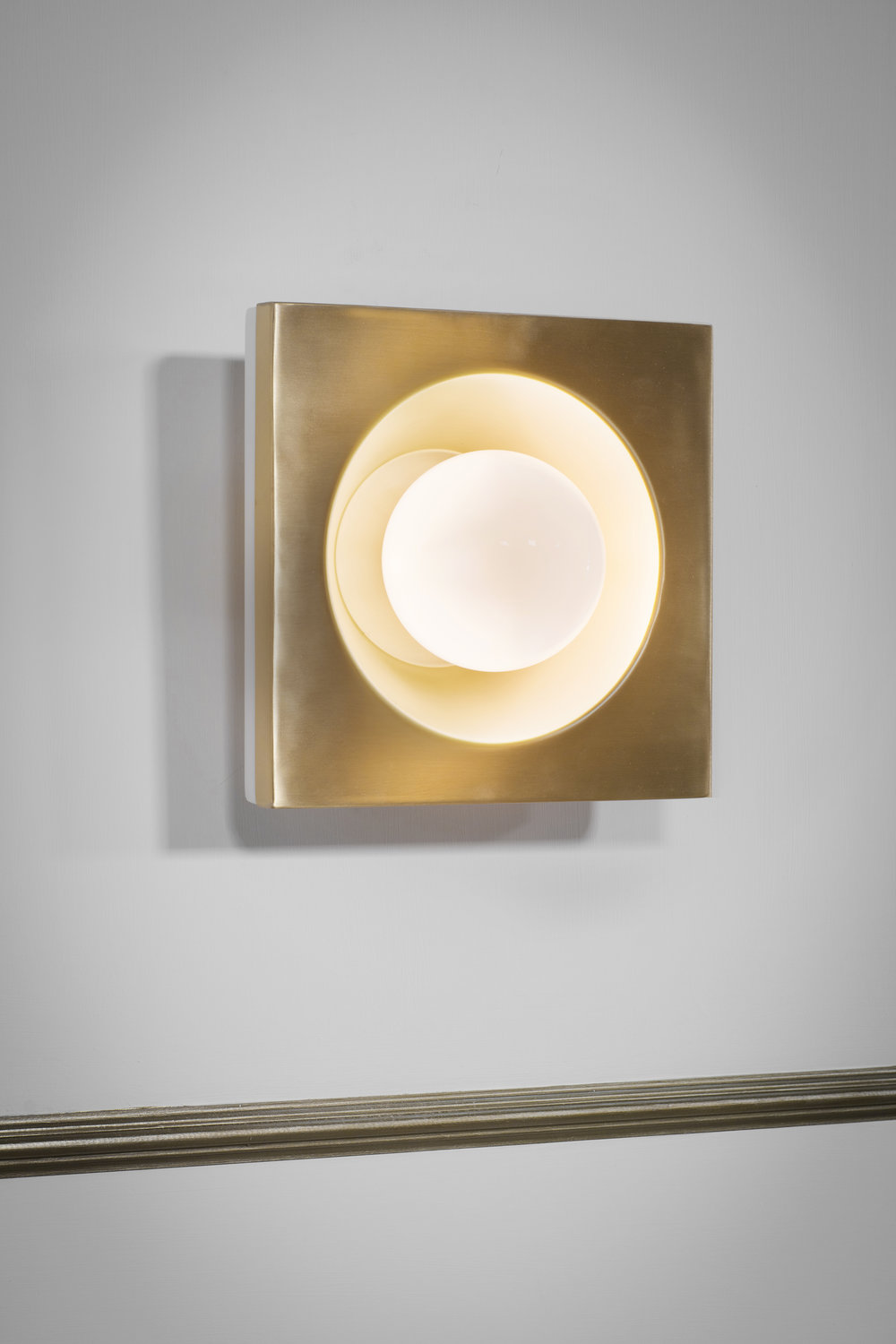 Kins Wall Light - <p><span>This versatile wall light makes a great impact and with its opal glass globe, creates a warm and generous glow. When used in multiples these beautiful lights create impressive drama and effect. </p> <p></span></p>  | Matter of Stuff