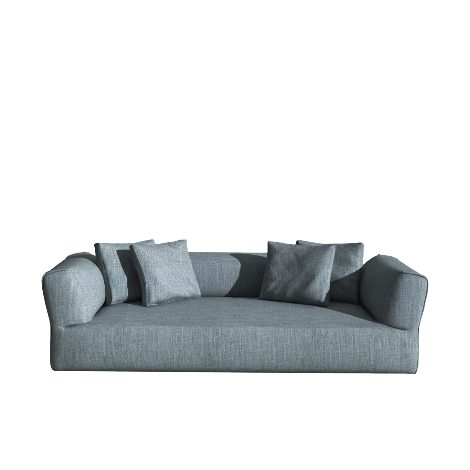 Rever Three Seater Sofa - Rever features plump, generous curves and proportions. The original way the armrests are fitted - a fundamental feature of this sofa – is paired with special attention to detail: the slightly padded edge looks as if it comes from a fashion house because it is inspired by the lapel of jackets and the flap of pockets. Rever is an extremely versatile sofa. The large day beds and the comfortable poufs make it perfect for moments of enjoyable togetherness and play. | Matter of Stuff