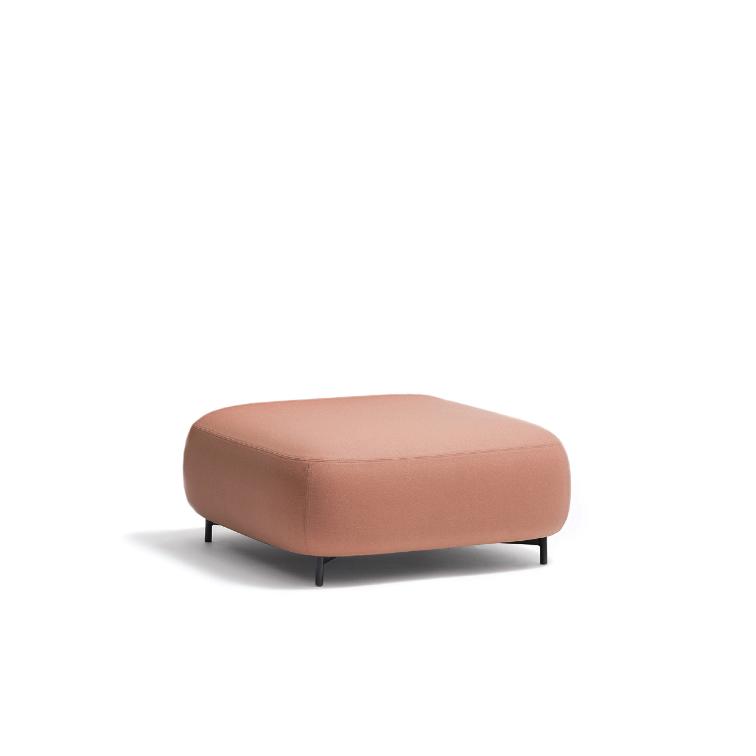 Buddy Pouf Large - <p>Soft lines and clean design feature Buddy collection. The rounded shape of the pouf with a generous and comfortable upholstery is supported by four thin and rigorous legs Ø20mm. These make the pouf extremely functional and visually lift the volume from the ground. Height 400 - 450 mm.</p> <p>A range of upholstery fabrics, materials and colours are available in a number of combinations. Prices may vary. Please enquire for full details.</p>    Matter of Stuff