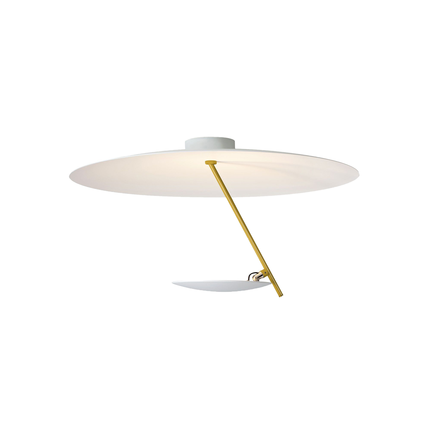 Lederam C150 Ceiling Lamp - Lederam embodies the accuracy of the motion required to draw a line. The warm, softly coloured disks surround a LED module with an ultra-flat shape, which creates thin lamps and suspended forms with curved, sinuous lines. | Matter of Stuff