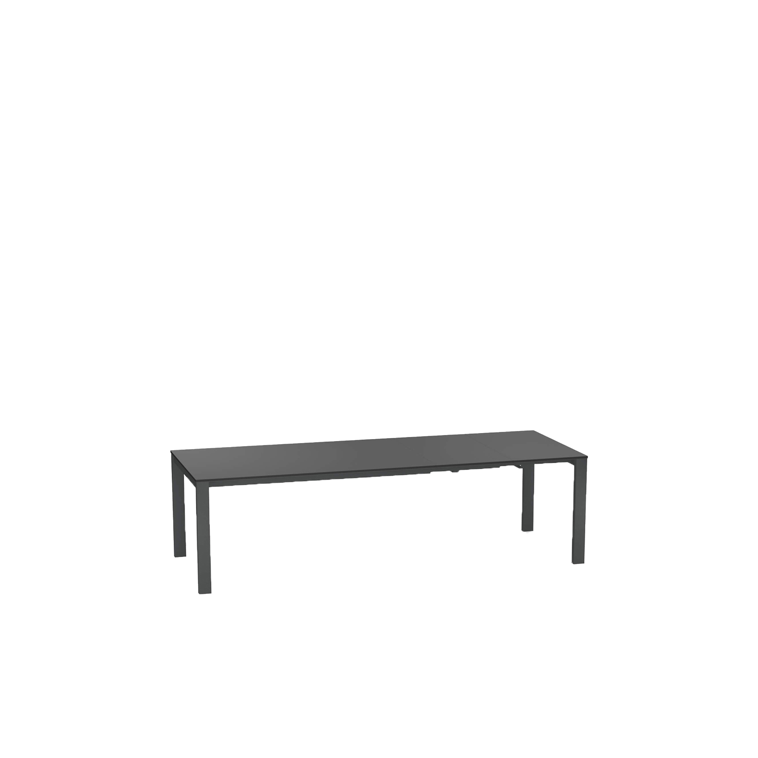 Round Extensible Table With Steel Sheet Top - The Round Extensible Table With Steel Sheet Top can be extended to suit your space or needs. The length it comes in is 160 cm but this can be extended +54 cm and then +54 cm again of needed. It comes in Matt White and Antique Iron. Please refer to the Colours and Finishes attachment to see these colours.   Round is a collection defined by its search for structural balance and soft lines, an interpretation of outdoor space that conveys stylistic but essential refinement. Clean and basic shapes mark the range of elements that make up this collection.</p>  | Matter of Stuff