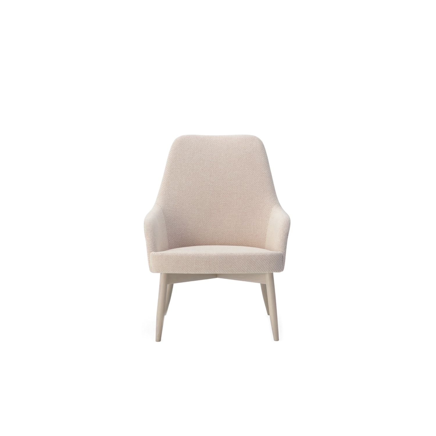 Spy High Lounge Chair - Lounge chair and Spy High in solid beech or lacquered steel, Spy Wingback in solid beech, all three models with upholstered plywood shells.  The chair comes with standard felt floor pads.  | Matter of Stuff