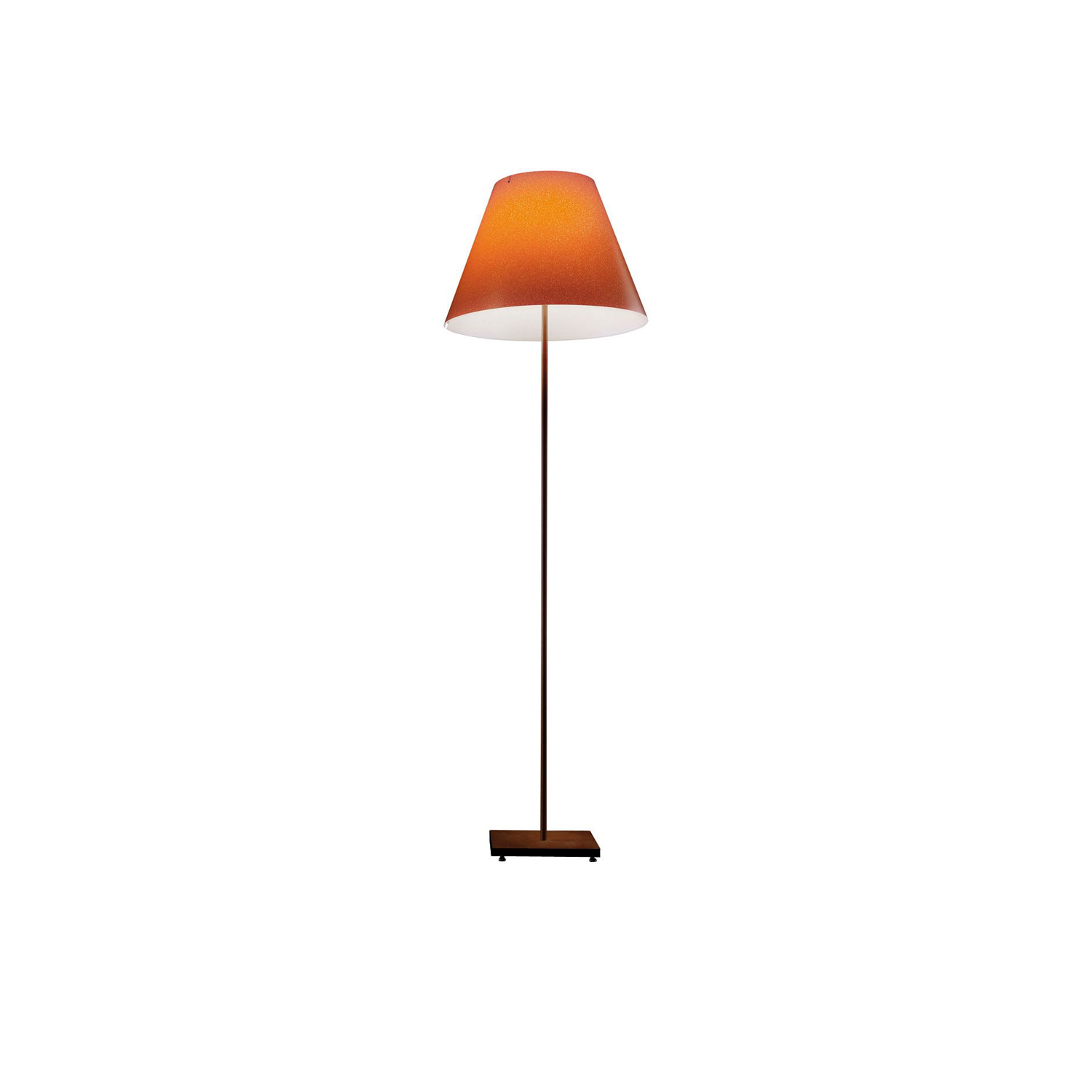 Grande Costanza Open Air Outdoor Lamp - The outdoor version is perfect for terraces and gardens, to light spaces with elegance and efficiency. The shade comes in the colors ivory, rust or green. Stem in white, rust or aluminium.  Structure and shade comes in different finishes please enquire for more information  | Matter of Stuff