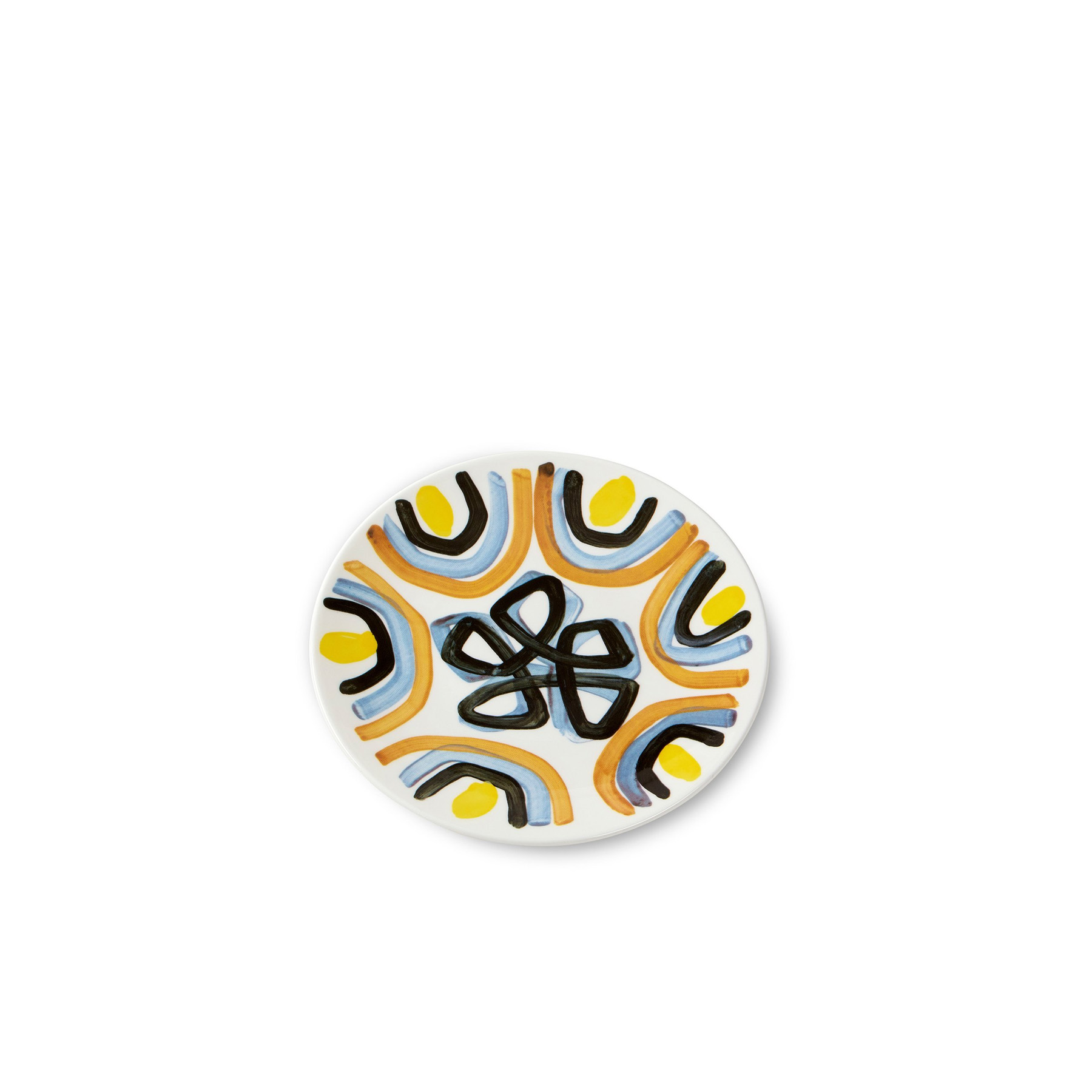 Yellow Flower Salad Plate - Peter Pilotto's vision of womenswear embraces both new and classic perspectives on elegance. Otherworldly prints combine with soft sculptural shapes to form the handwriting of the design duo. The fine bone china table ware collection celebrates their aesthetic with the wonderful use of pattern and colour.