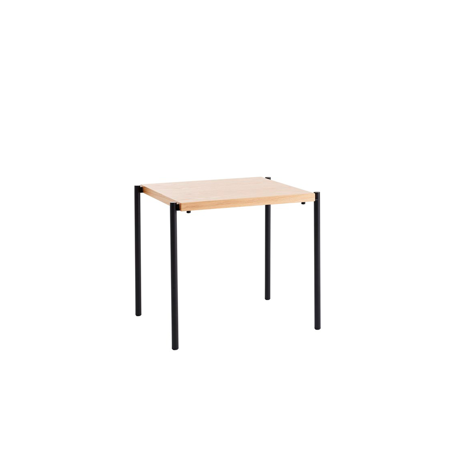 Kanecct Table - The Kanecct (2017) table system consists of tables with leg frames and connecting tabletops between the tables. The tables can be handled easily by just one person. Kanecct is ideal where flexibility is key. A room can quickly be transformed from being furnished with individual tables to being furnished with one long table – or from offering maximum seating to no seating at all. The tables can be stacked on top of each other to free up floor space.  Store connecting tabletops on a trolley or hang them on the wall.  The tables come in a width of 700 mm and lengths of 600, 700 and 1250 mm. Legs come in white or black powder coated steel. Connecting tabletops come in a width of 700 mm and in lengths of 700, 1250 and 1850 mm. All tabletops and connecting tabletops are made of framed construction with tops in veneers of oak, birch or ash, standard stains on ash and white glazed oak or ash. Tops are also available in laminate (white, black, oak, birch or ash) and black desktop. The underside of each table includes a sound-absorbent pad, stacking and saftey cover.  Please enquire for more details and configurations. | Matter of Stuff