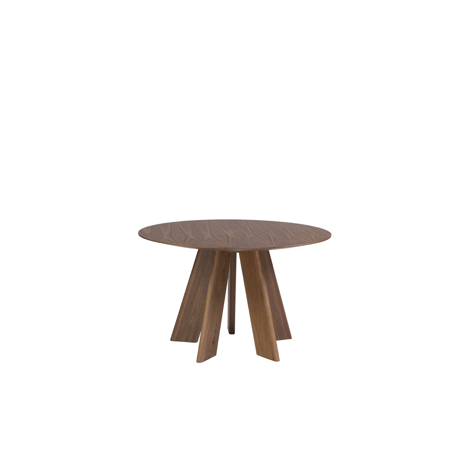 Alhambra 001 Ra Round Table - Round table in various sizes with shaped top with thin edge, base with 5 legs total lacquered or solid wood.  Maxfine Top is available for 3 sizes: Ø120 x H75 Cm, Ø130 x H75 Cm, Ø150 x H75 Cm | Matter of Stuff