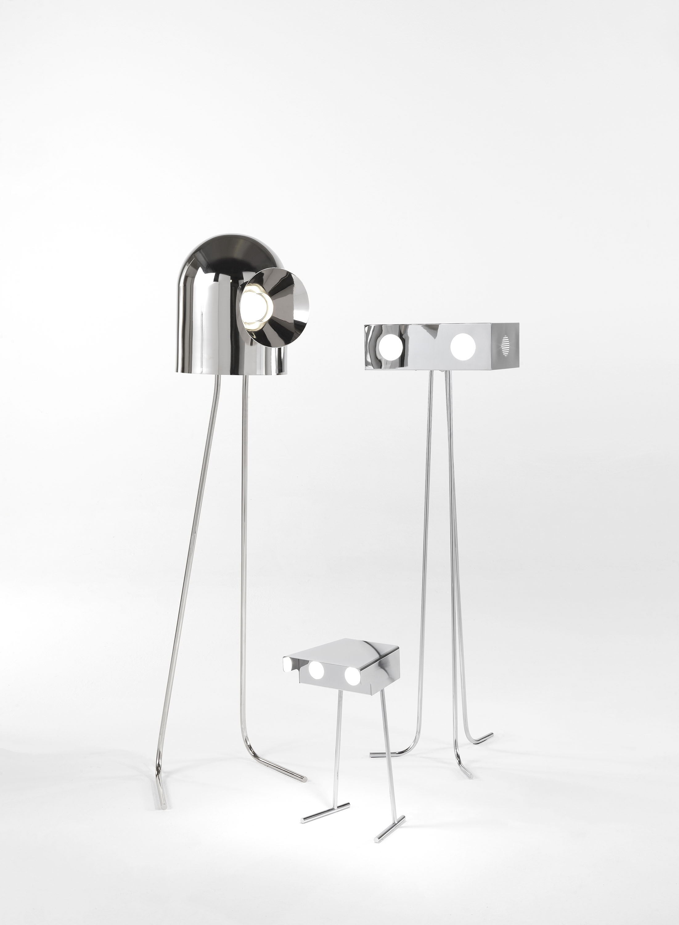 Rone Floor Lamp - <p>Rone comes from a JCP universe's science-fiction movie, where notions of the past become the future and what we perceive as history has yet to be seen. Looking like little robots with an unxpected soul, they light the unseen and become characters able to transform everyday life.</p>