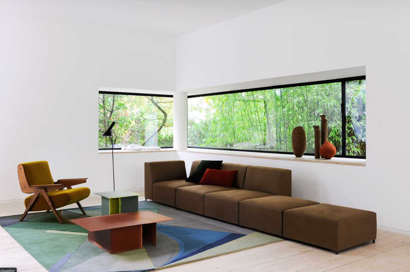 Quadro Sectional Sofa - Quadro is a modular system which enables the formation of sofas, armchairs and ottomans in a variety of combinations and dimensions addressing the needs of any space or environment with simplicity and comfort for large and small spaces. All covers are removable. | Matter of Stuff