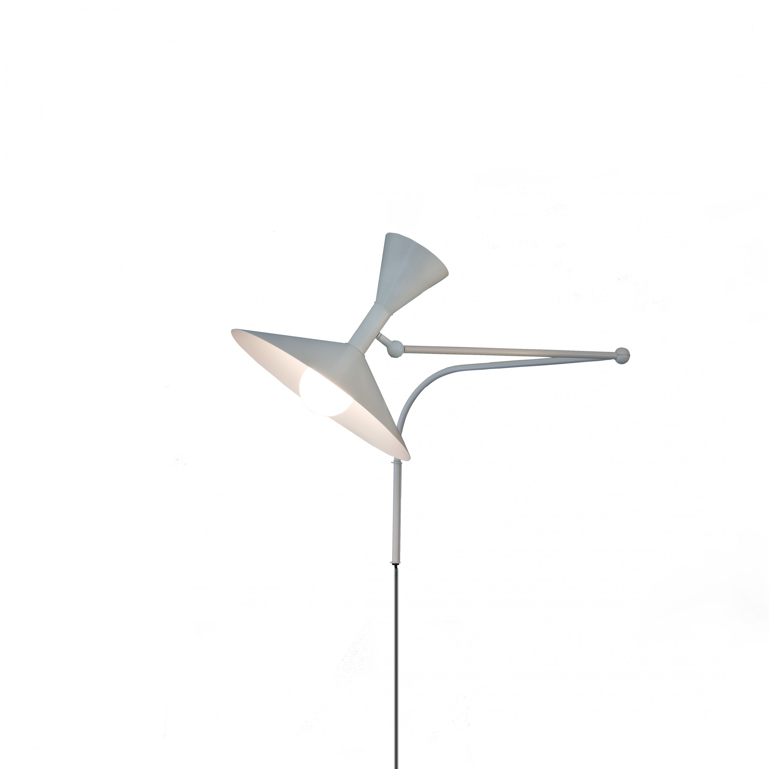 Lampe de Marseille Wall Lamp - Designed by Le Corbusier for the Unité d'Habitation of Marseille in 1949/1952, Lampe de Marseille is an adjustable wall lamp with two joints on the arm and a rotating wall fixing.