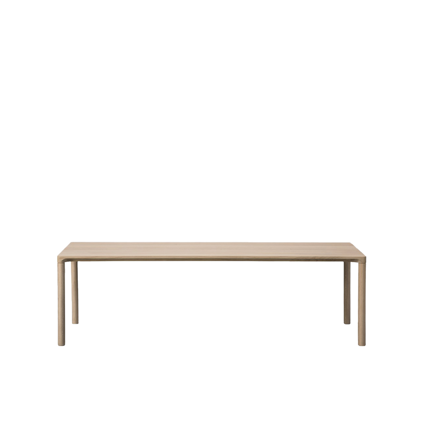 Piloti 6715 Side Table - Piloti is a series of solid oak side tables. The subtle detailing of the table top creates the impression of a single line, floating between four delicate legs. The tables are supplied in two heights and can be combined as a nest.