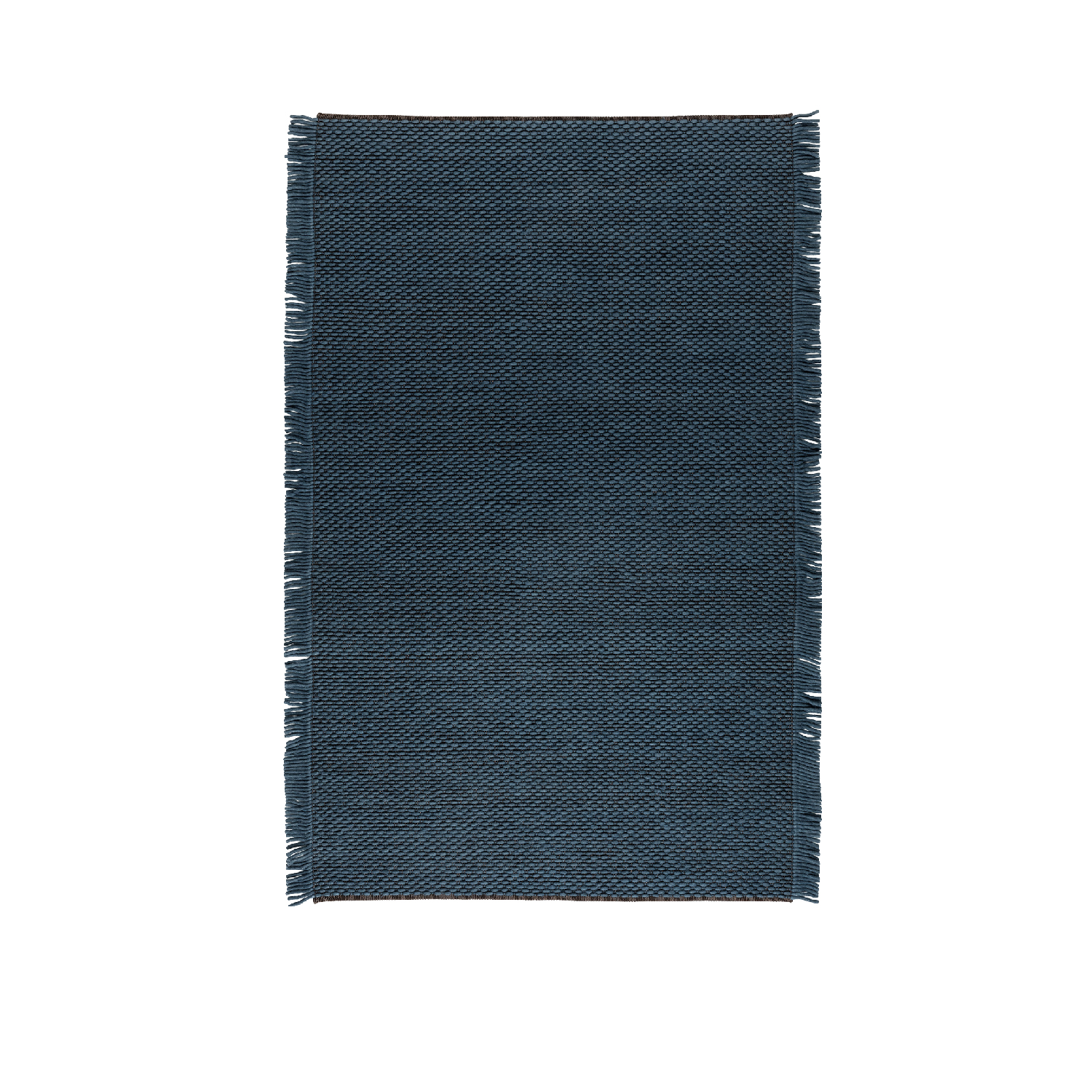 Kura - Thin felt cords appear and disappear from the polyester warp and find their identity in the straight, compact fringes on the side.  Dimensions: 170 x 240 cm – 200 x 300 cm Special dimension available on request  Composition: 50% felt, 50% polyester  Total weight: 4 Kg mq | Matter of Stuff