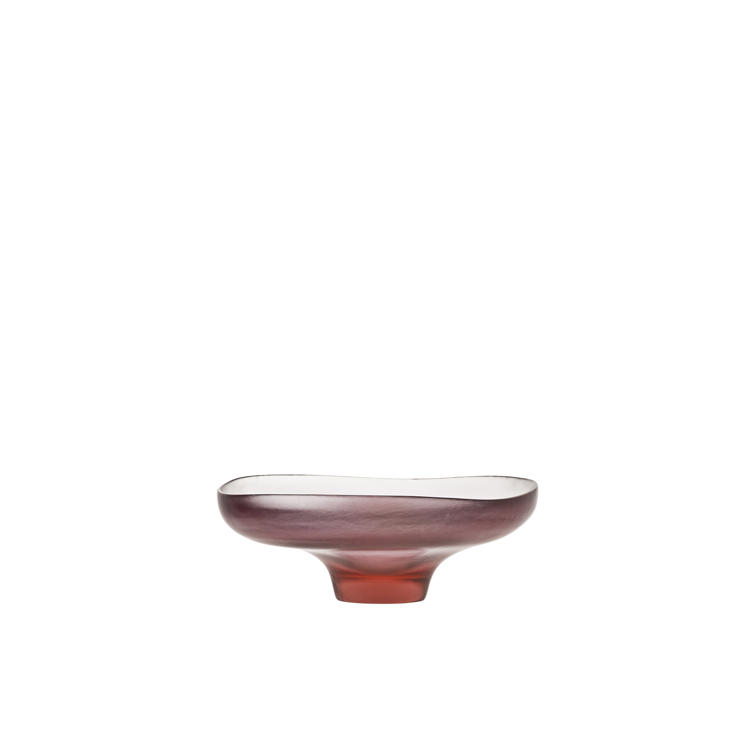 Battuti Canoe - It reveals itself as a shell gaping open, in tones of Crystal, Aquamarine and shaded pink Alexandrite. Its translucent appearance is the result of the skill and hard work of the master glassblowers, who skillfully grind the glass to lend it a unique slightly slubbed texture | Matter of Stuff
