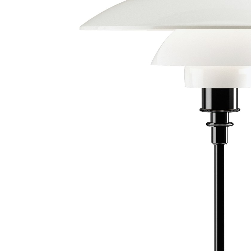 PH 3½-2½ Opal Glass Table Lamp