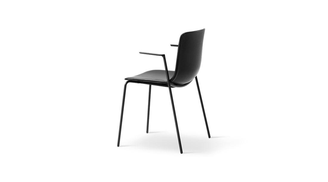 Pato 4 Leg Tube Base Armchair Seat Upholstered