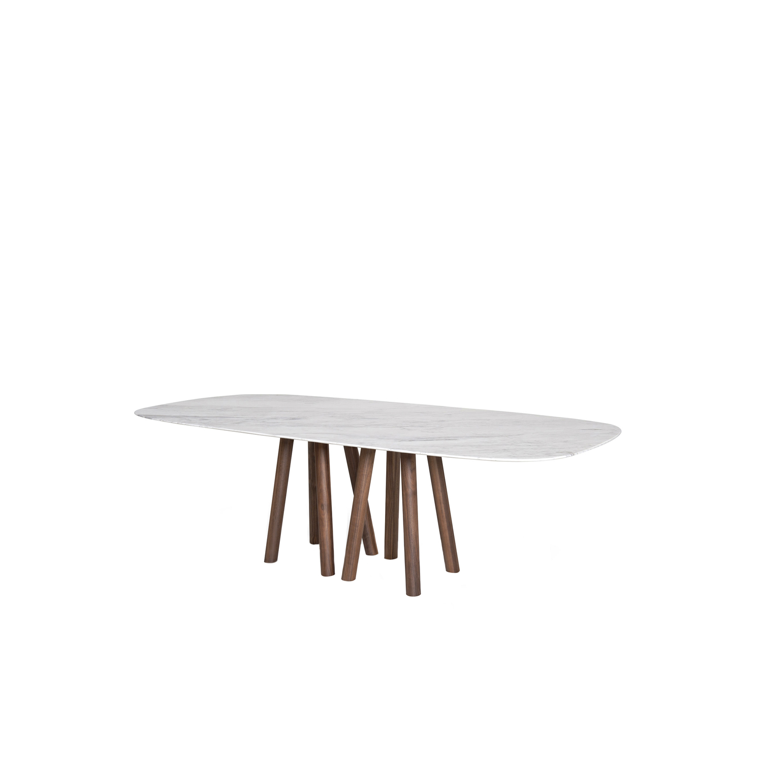 Mos-I-Ko 001 Fm Table - Table in various sizes with shaped marble top - base