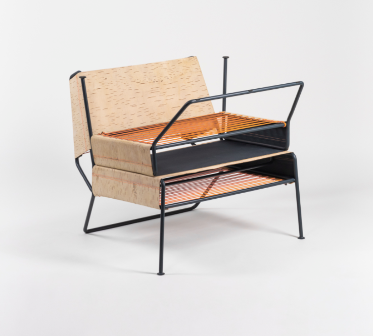 Sibirjak Lounge Chair with Ottoman
