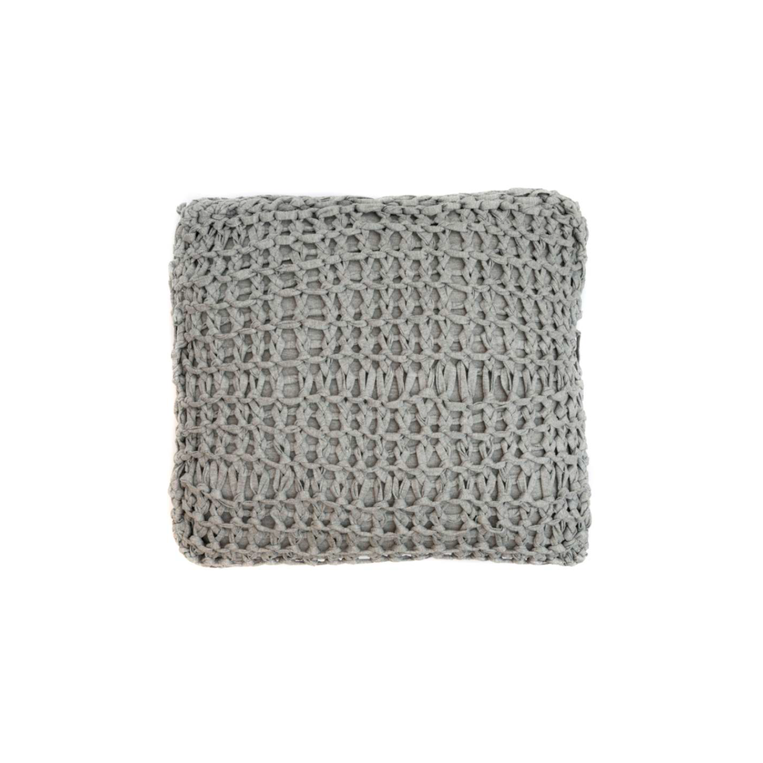 Stockholm Knitted Cotton Cushion Square - The Stockholm Line is carefully knitted within a trained community of women that found in their craft a way to provide for their families, each one of these cushions and throws is unique.  Elisa Atheniense Home soft indoors collection is made with natural cotton fibres, eco-friendly, handwoven or elaborated using traditional hand-loom techniques. The use of organic materials brings softness and comfort to the space. This collection combines their mission for responsible sourcing and manufacturing.  The hand woven cotton, washable cushion cover is made in Brazil and the inner cushion is made in the UK. All cushions come with Hollow Fibre filling. European Duck Feathers are optional upon request at an extra cost. Please enquire for more information and see colour chart for reference.   | Matter of Stuff