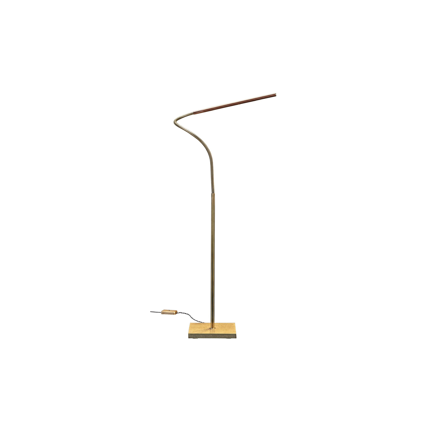 Lola T Table Lamp - Lola is discreet and practical. Its inconspicuous presence places the emphasis on light, directing it exactly where needed. Hand crafted entirely in brass, it is available as a floor or table lamp. With minimal design, Lola is the essence of light. | Matter of Stuff