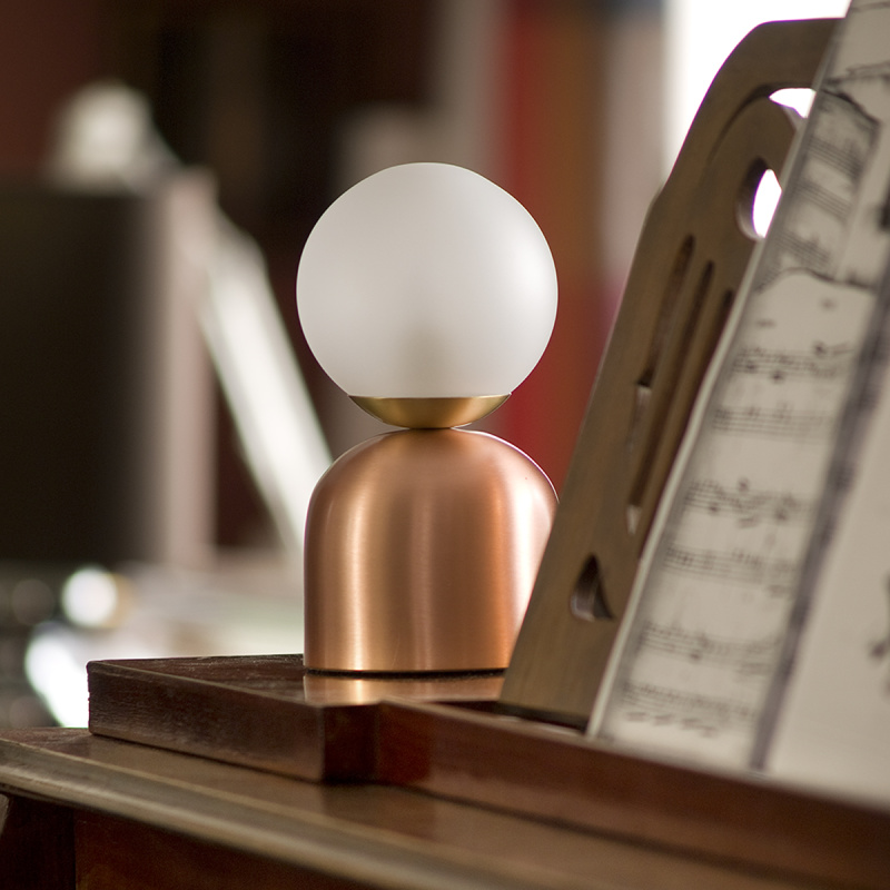 Bon Bon Copper Light - <p>A nostalgic design echoing sounds of the past, the Intueri Light Turbaya Table/Wall Lamp contemporizes the look of a gramophone. The Turbaya has a shape like a gramophone and it can remind others about the old days when this was the only thing that we could listen music on. Turbaya is a multi-function light. Wall light, table light, two functions in one product.</p>    Matter of Stuff