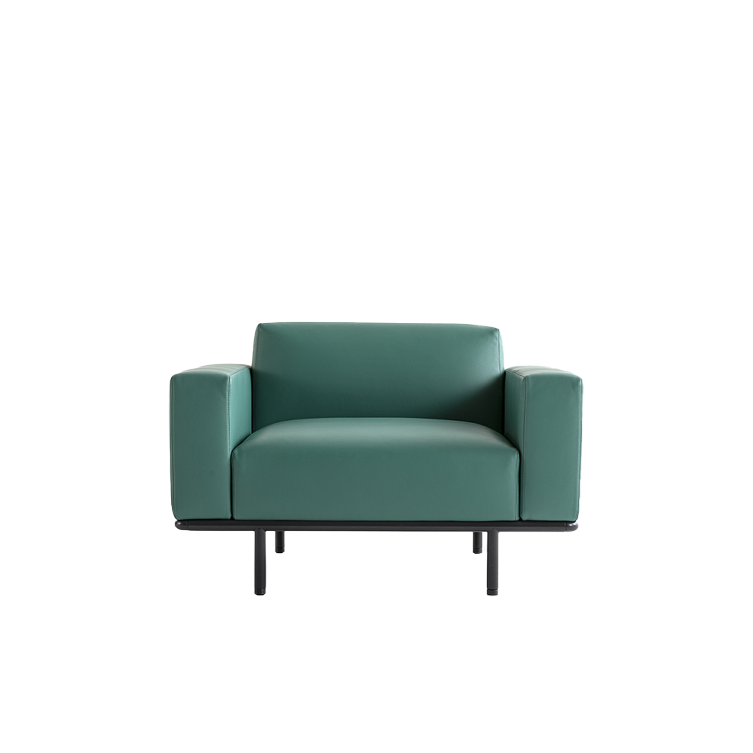 Cap Ferrat Lounge Armchair - Cap Ferrat sofa by Carlo Colombo is the emblem of a new collection marked by a rigorous and virtually atemporal design, capable of maintaining an airy appearance, even in large-scale dimensions.