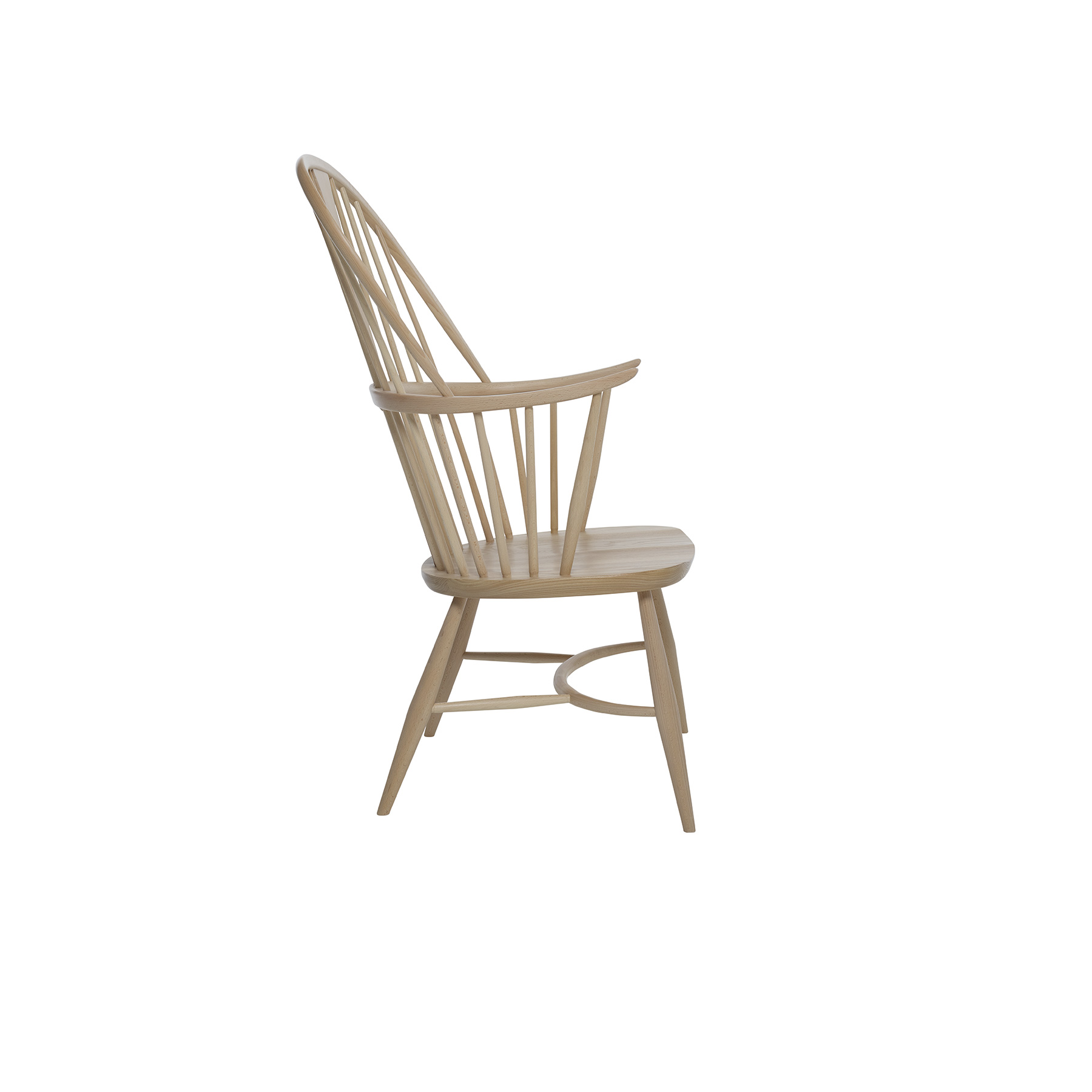 Originals Chairmaker Chair - <p>The Ercol Originals are pieces of timeless and classic design that never date or show their age. It is furniture that is as relevant and as functional now as it was when it was created in the 1950s and 1960s. This furniture was designed by ercol's founder, Lucian Ercolani, who drew for his inspiration on the time proven local design and craft in the Chiltern Hills around where he lived and built his first factory in 1920 in High Wycombe. Using the strength of beech and the beauty of elm he carried this definition on into a huge variety of dining, kitchen, and school chairs and then extended the idiom into the low easy chair range epitomised by the 206 armchair and the studio couch. The beauty of the colour and the grain of the elm took Lucian on to use elm for the tables and cabinets of the Originals and the following Windsor range. The pinnacle of Windsor chair making, the Chairmakers chair is a demonstration of our chair making skills. Four spindles separated by a double bow, and a curved arched back contribute to a supportive sit. The two upward turned armrests supported by three spindles and the solid sculptured seat on this chairmakers chair provide additional comfort. A feature of this dining chair is the classic Windsor wedge joint, where the leg of the chair goes right through the seat; a wedge is then inserted into a cut in the leg, forming a remarkably strong joint.  Sanded off flush with the seat, the joint then provides a beautiful design element. The chair is available in your choice from our lacquer finishes which both protect the timber and allow the beauty of the natural grain to show through.  Alternatively you can chose from our range of paint finishes to give your room a pop of colour.</p>    Matter of Stuff