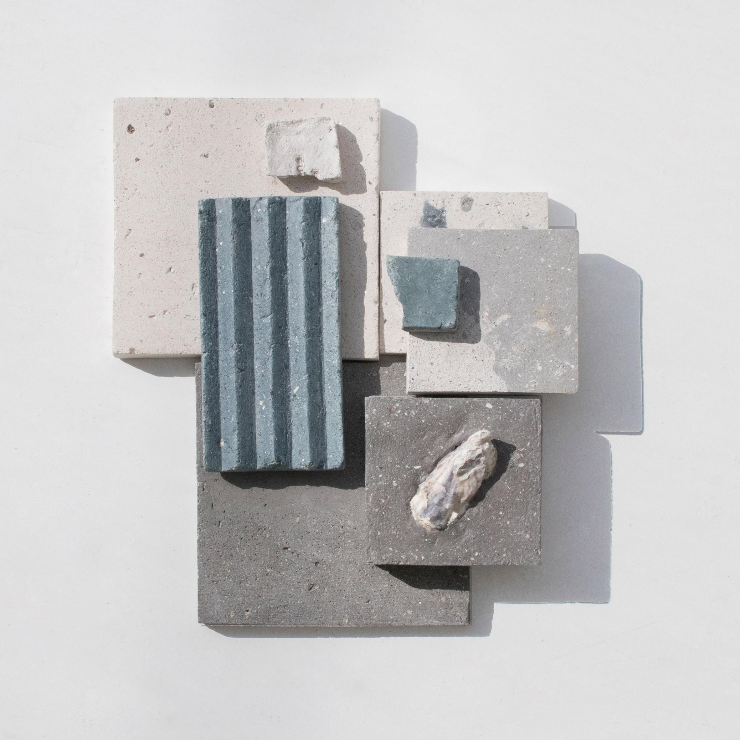 Sandy Blue SeaStone Plain Tiles
