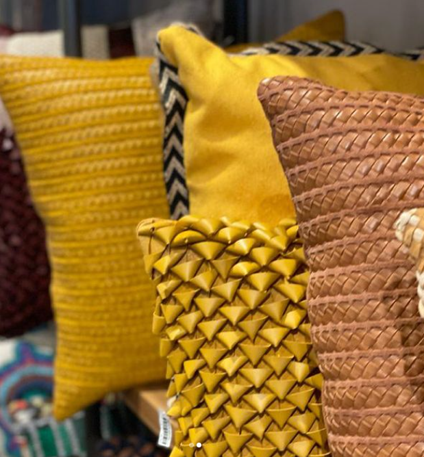 Ourico Woven Leather Cushion Small