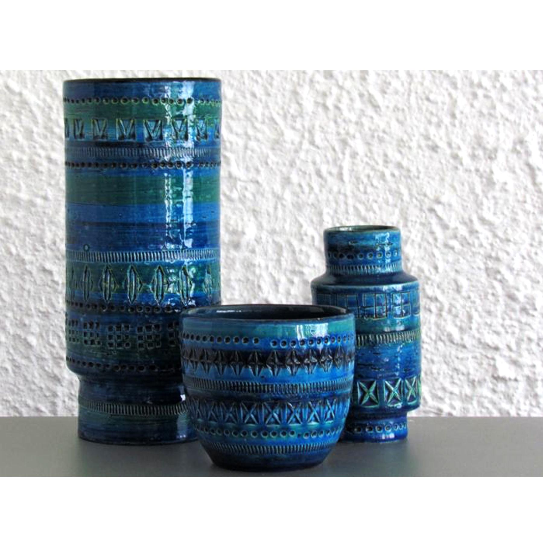Rimini Blu Reel Vase