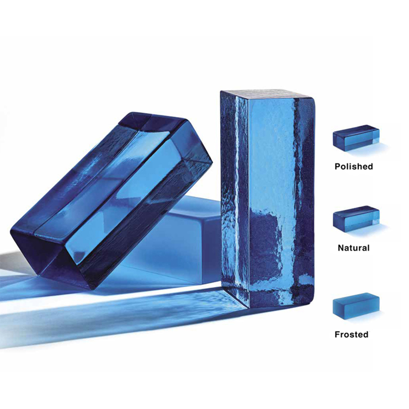 Handmade Glass Brick - Dark Blue - Handmade glass bricks in a range of brilliant colours and available in three different finishes: polished, natural and frosted. | Matter of Stuff